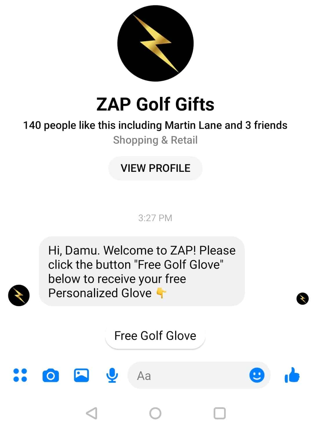 Messenger Conversation from the AD